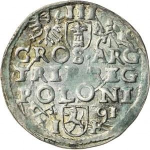 Zygmunt III Waza (1587–1632), trojak koronny, Poznań; 1591