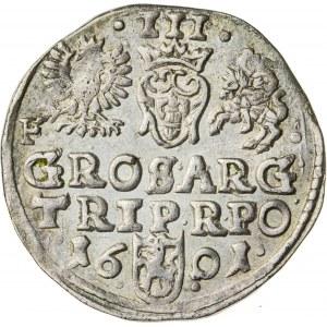 Zygmunt III Waza (1587–1632), trojak koronny, Wschowa; 1601