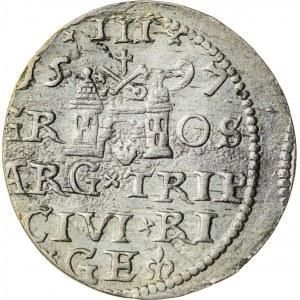 Zygmunt III Waza (1587–1632), trojak ryski, Ryga; 1597