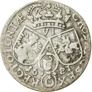 Jan III Sobieski (1674–1696), szóstak koronny, Kraków; 1681