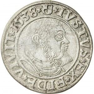 Prusy Książęce, Albrecht Hohenzollern (1525–1568), grosz pruski lenny, Królewiec; 1538