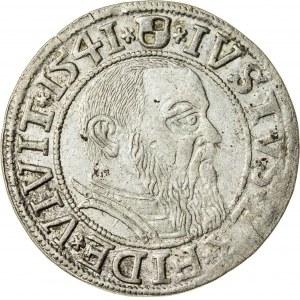 Prusy Książęce, Albrecht Hohenzollern (1525–1568), grosz pruski lenny, Królewiec; 1541