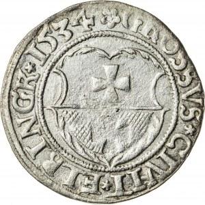 Zygmunt I Stary (1506–1548), grosz elbląski, Elbląg; 1534