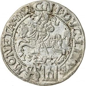 Zygmunt II August [1544 (1548) –1572], grosz litewski na stopę polską, Wilno; 1547