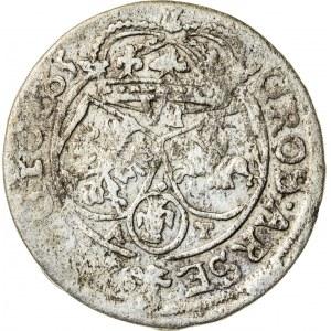 Jan Kazimierz (1649–1668), szóstak koronny, Kraków; 1665