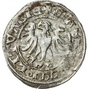 Litwa, Aleksander Jagiellończyk (jako książę litewski 1492–1506), półgrosz, Wilno; 1495–1506