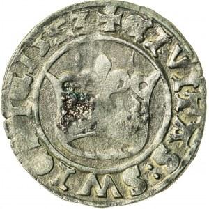 Śląsk, Ludwik II Jagiellończyk (1509-1526), półgrosz koronny, Świdnica; 1523