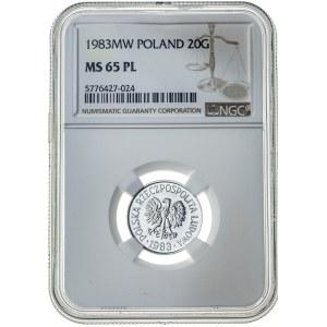 20 groszy 1983, MS 65 PL