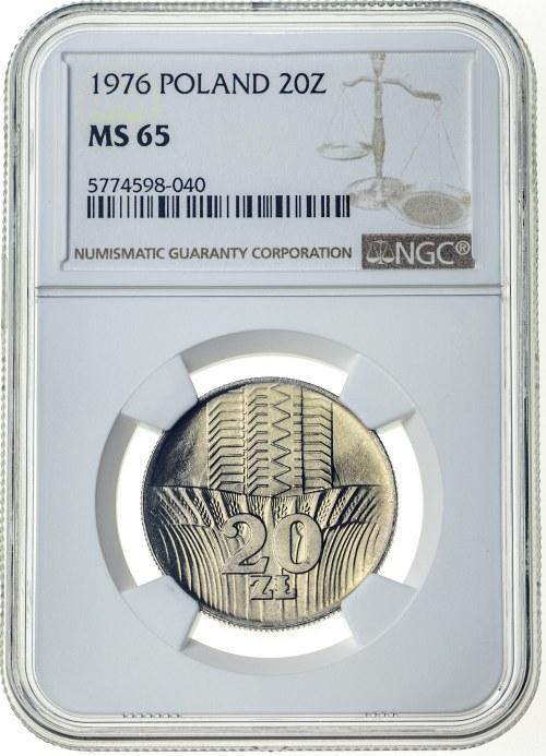 20 złotych 1976, MS 65, Wieżowiec i Kłosy