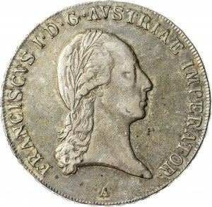 talar 1823 A, Wiedeń, srebro
