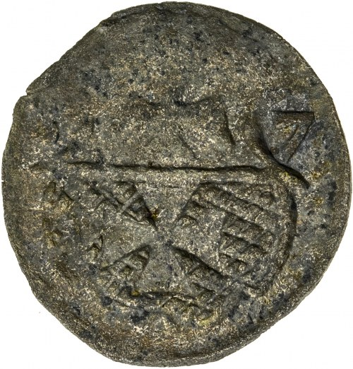 Zygmunt II August [1544 (1548) –1572], denar elbląski, Elbląg; 1557, R2