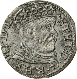 Stefan Batory (1576–1586), trojak ryski, Ryga; 1585, R