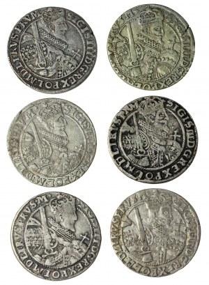 zestaw 10 szt. :Zygmunt III Waza (1587–1632), orty koronne, Bydgoszcz; 1621 (x3) i 1622 (x3), 1623 (x2) i 1624 (x2)