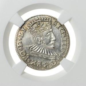 Zygmunt III Waza (1587–1632), trojak ryski, Ryga; 1592