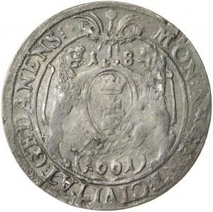 Jan Kazimierz (1649–1668), ort gdański, Gdańsk; 1661, R1