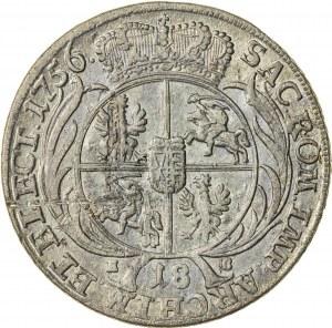 August III Sas (1733-1763), ort koronny, Lipsk; 1756 - efraimek