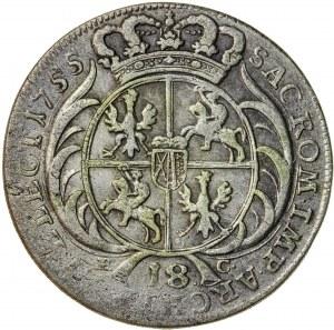 August III Sas (1733-1763), ort koronny, Lipsk; 1755