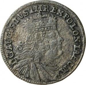 August III Sas (1733-1763), trojak koronny, Lipsk; 1754, R1