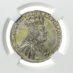 August III Sas (1733-1763), ort koronny, Lipsk; 1754