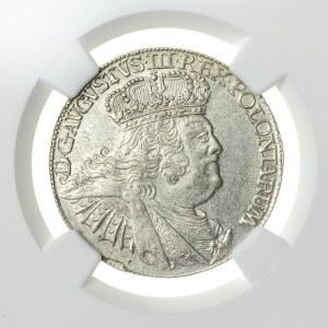 August III Sas (1733-1763), ort koronny, Lipsk; 1755, R5