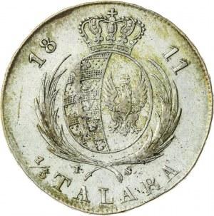 Księstwo Warszawskie, Fryderyk August (1807–1815), ⅓ talara (dwuzłotówka), Warszawa; 1811