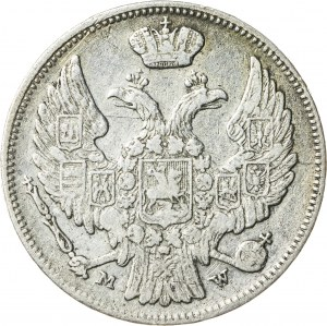 Królestwo Polskie - zabór rosyjski (1832–1841), Mikołaj I, 15 kopiejek / 1 złoty, Warszawa; 1837, R1