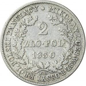 Królestwo Polskie, Mikołaj (1825–1830), 2 złote polskie, Warszawa; 1830, R1