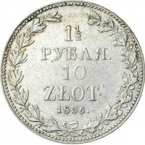 Królestwo Polskie, zabór rosyjski (1832–1841), 1 ½ rubla / 10 złotych, Warszawa; 1836