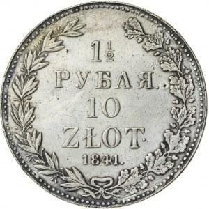 Królestwo Polskie, zabór rosyjski (1832–1841), 1 ½ rubla / 10 złotych, Warszawa; 1841, R1