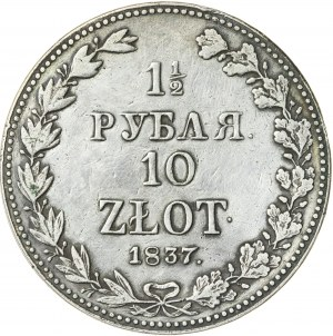Królestwo Polskie, zabór rosyjski (1832–1841), Mikołaj I (1825–1855), 1 ½ rubla / 10 złotych, Warszawa; 1837, R