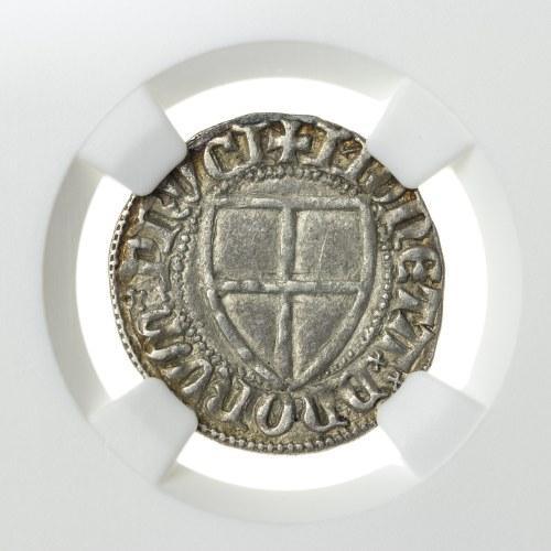 Prusy, Zakon Krzyżacki, Winrich von Kniprode (1351-1382) szeląg, toruń; po 1370