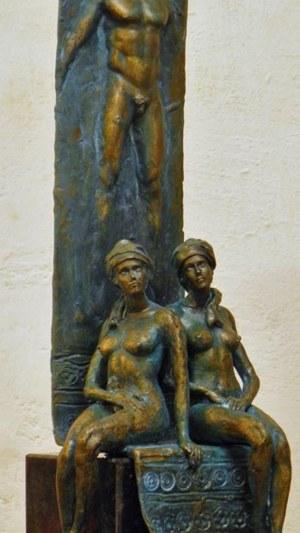 """Janusz Jędrzejowski, rzeźba """"Rozmowy w saunie"""""""