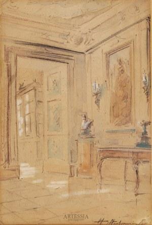 Władysław Chmieliński (Stachowicz) (1911–1971), Wnętrze pałacu w Wilanowie, przed 1939