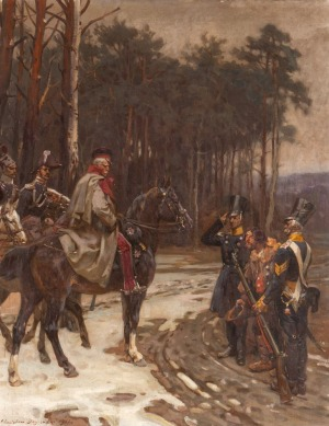 Stanisław BAGIEŃSKI, JENIEC PRZED GENERAŁEM DWERNICKIM, SCENA Z POWSTANIA LISTOPADOWEGO, 1912