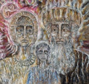 Zdzisław Roman LACHUR, RODZINA z cyklu JUDAICA, 1995