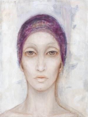 Iza Staręga, Bez tytułu z cyklu Kobiety w chustach, mężczyźni w hełmach, 2019
