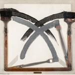 Tomasz KAWIAK ur. 1943, Rysunek – malarstwo zostawiania śladów wokół osi, 1975