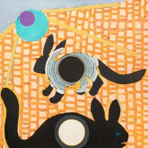 Ryszard GRZYB ur. 1956, Tęczanki śnione przez królika na łące i jego formę z jaskini Platona, 2017