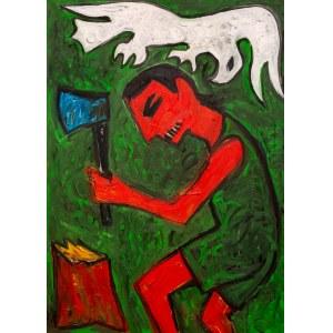 Zdzisław NITKA ur. 1963, Mężczyzna karczujący las, 2016
