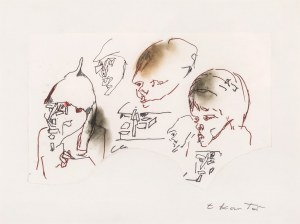 """Tadeusz KANTOR (1915 - 1990), Projekt do spektaklu """"Przedstawiciele władzy"""", niedatowany"""