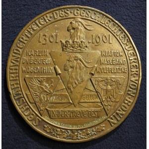 KOŁOBRZEG, KOSZALIN, SZCZECINEK. Medal wybity z okazji 600-lecia rodu Boninów