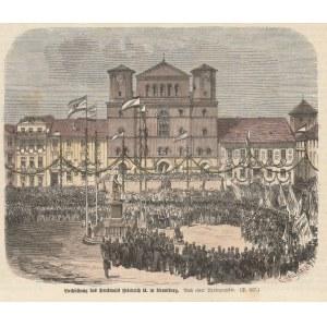 BYDGOSZCZ. Odsłonięcie pomnika Fryderyka II Wielkiego w 1862 r