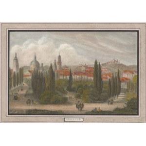 LWÓW. Panorama miasta, pochodzi z: Meyer's Universum, wyd