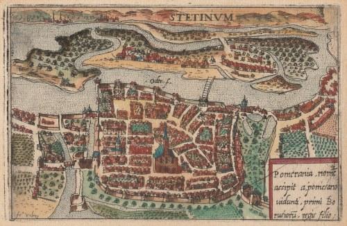 SZCZECIN. Perspektywiczny plan Szczecina, oprac. Francesco Valegio (ok. 1560