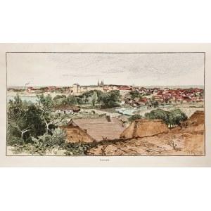 TARNOPOL. Panorama miasta, anonim (sygn. RK), ok. 1880; drzew. szt. kolor.