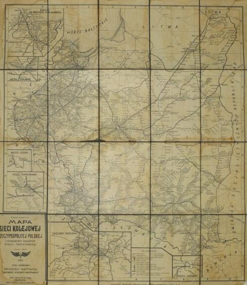POLSKA, WARSZAWA (KOLEJNICTWO). Mapa sieci kolejowej II RP, oprac