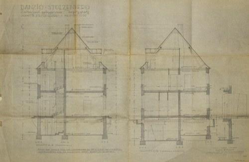 GDAŃSK. Schematy budynków masarni w gdańskiej dzielnicy Chełm (Stolzenberg)