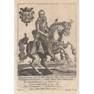 WARSZAWA, WILNO. ZYGMUNT III WAZA (1566-1632), portret konny, pochodzi z