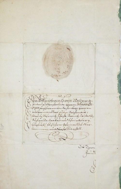 LEGNICA, BRZEG, ŚLĄSK. List Jerzego III, księcia śląskiego w Legnicy i Brzegu