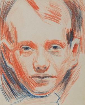 Stanisław KAMOCKI (1875-1944), Głowa chłopca z dłonią podpierającą brodę